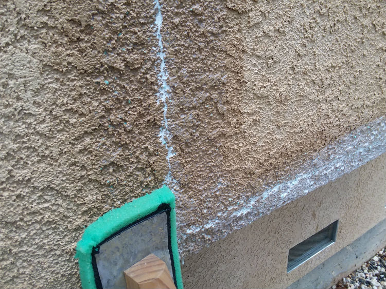 Wipe off excess water and caulking residue from around - How to repair exterior stucco cracks ...